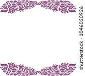 floral frame. vector... | Shutterstock .eps vector #1046030926