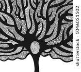 beautiful tree. vector... | Shutterstock .eps vector #1046031502