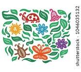 nature pattern. vector... | Shutterstock .eps vector #1046035132