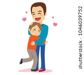 sweet illustration of son and... | Shutterstock .eps vector #1046039752