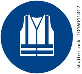 mandatory sign vector   wear... | Shutterstock .eps vector #1046041312