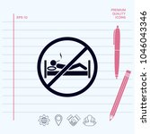 no smoking in bed   prohibition ...   Shutterstock .eps vector #1046043346