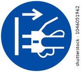 mandatory sign   disconnect... | Shutterstock .eps vector #1046051962