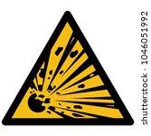 yellow triangular vector sign... | Shutterstock .eps vector #1046051992