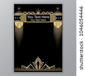 art deco template golden black  ...   Shutterstock .eps vector #1046054446