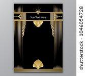 art deco template golden black  ... | Shutterstock .eps vector #1046054728