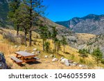 Picnic Table Over Mountains An...