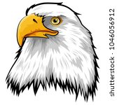 mascot head of eagle isolated... | Shutterstock .eps vector #1046056912