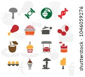 foods icon set with saucepan ...   Shutterstock .eps vector #1046059276