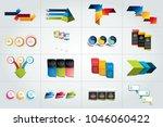 mega set of 3 steps infographic ... | Shutterstock .eps vector #1046060422