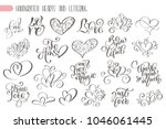 big set hand written lettering... | Shutterstock . vector #1046061445