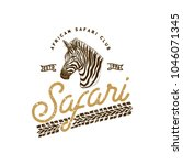 african safari retro label... | Shutterstock .eps vector #1046071345