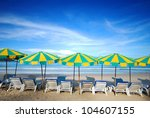 colorful beach furniture to... | Shutterstock . vector #104607155
