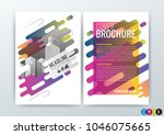 a4 size  abstract modern...   Shutterstock .eps vector #1046075665