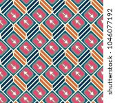 seamless abstract pattern with... | Shutterstock .eps vector #1046077192