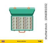 case full of money on white...   Shutterstock .eps vector #1046081032