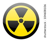 sign of radiation on white | Shutterstock .eps vector #104608106