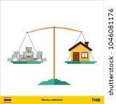 money for home. thai baht...   Shutterstock .eps vector #1046081176