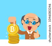 cryptocurrency concept senior... | Shutterstock .eps vector #1046083246
