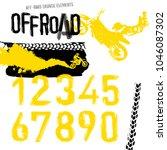 off road motorcycle elements...   Shutterstock .eps vector #1046087302