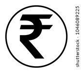 rupee icon in circle | Shutterstock .eps vector #1046089225