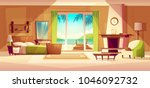 vector panorama of villa... | Shutterstock .eps vector #1046092732