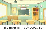 vector cartoon background with... | Shutterstock .eps vector #1046092756