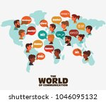 set of social people on world... | Shutterstock .eps vector #1046095132