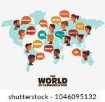 set of social people on world... | Shutterstock .eps vector #1046095132