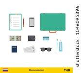 throwing three thai baht. thai...   Shutterstock .eps vector #1046095396
