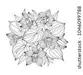 flower  bouquet. vector...   Shutterstock .eps vector #1046099788