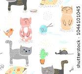 seamless baby pattern... | Shutterstock .eps vector #1046101045