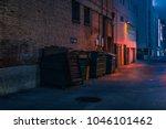 dark alley night