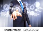 business person working with... | Shutterstock . vector #104610212