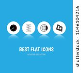 icon flat component set of...   Shutterstock .eps vector #1046104216