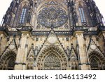 old gothical cathedral of saint ... | Shutterstock . vector #1046113492