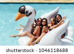 group of friends on vacation... | Shutterstock . vector #1046118688
