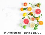 fruit background. colorful... | Shutterstock . vector #1046118772
