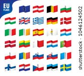 flags of the european union | Shutterstock .eps vector #1046124502