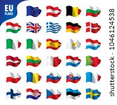 flags of the european union | Shutterstock .eps vector #1046124538
