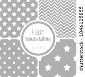 set of vector seamless patterns ... | Shutterstock .eps vector #1046125855