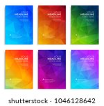 modern abstract annual report ... | Shutterstock .eps vector #1046128642