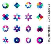 set of modern icon design logo...   Shutterstock .eps vector #1046130928