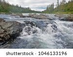 river rapids in the polar urals....   Shutterstock . vector #1046133196