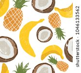 beautiful hand drawn pattern... | Shutterstock .eps vector #1046133562
