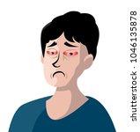 pink eye man   Shutterstock .eps vector #1046135878