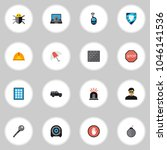 set of 16 editable safety icons ...