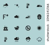set of 16 editable air icons....