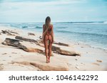 back view sexy tattooed young... | Shutterstock . vector #1046142292