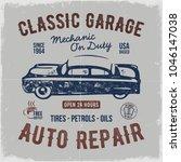 vintage hand drawn auto repair... | Shutterstock .eps vector #1046147038